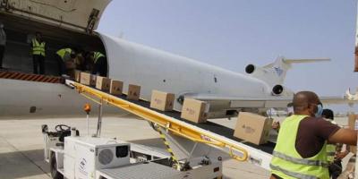شحنة مساعدات طبية من اليونيسيف تصل الى عدن
