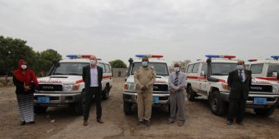 برنامج الامم المتحدة الانمائي يرفد الياماك بسيارات ومعدات للالغام