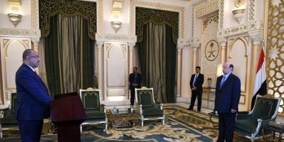 رئيس واعضاء الحكومة يؤدون اليمين الدستورية امام رئيس الجمهورية