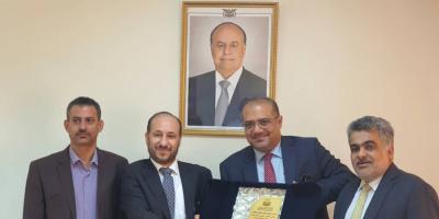 الوزير باذيب يتسلم وزارة التخطيط والتعاون الدولي من الوزير العوج