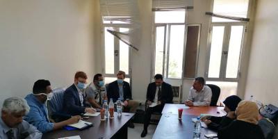 وكيل وزارة التخطيط والتعاون الدولي منصور زيد يجتمع مع منظمة الهجرة الدولية ومكتب الاوتشاء