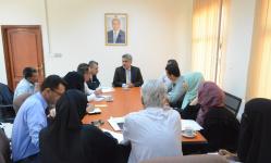نائب وزير التخطيط يناقش خطط قطاعي المشاريع والتعاون الدولي بالوزارة لعام 2021م