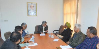 نائب وزير التخطيط يلتقي مديرة مكتب برنامج الأغذية العالمي في عدن