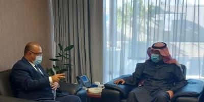 باذيب يلتقي نائب رئيس الصندوق السعودي للتنمية