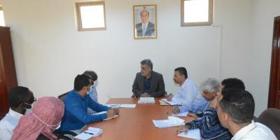 اجتماع برئاسة باصهيب يناقش استعدادات إقامة الفاو ورشة كتلة الأمن الغذائي والزراعة في عدن