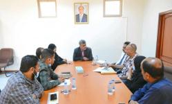 اجتماع موسع برئاسة باصهيب يناقش الجهود المشتركة لمعالجة إشكاليات المياه في عدن